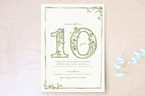 Sweet Sketch Party Invitations