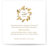 This is a white party invitation by Oscar & Emma called Autumn Wreath printing on signature.