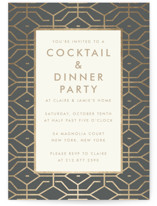 This is a grey party invitation by Toast & Laurel called West Coast with standard printing on signature in standard.
