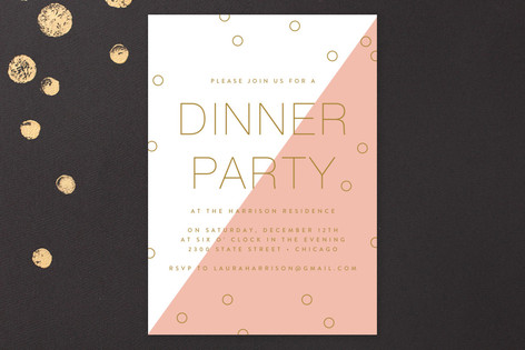 Modern Confetti Party Invitations