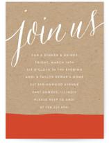 This is a orange party invitation by Erin Deegan called Paint Dipped with standard printing on signature in standard.