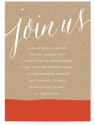 Paint Dipped Party Invitations