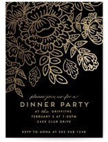 This is a black party invitation by Chris Griffith called Course De Elegance printing on signature.