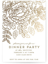 This is a white party invitation by Chris Griffith called Course De Elegance printing on signature.