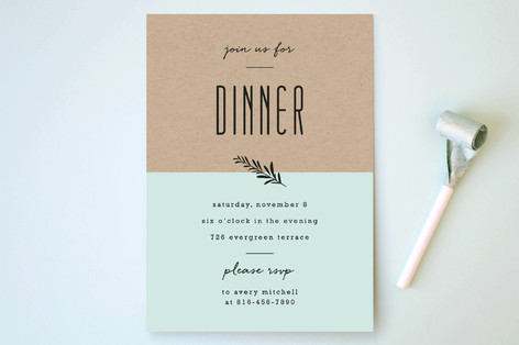 Farm To Table Menu Party Invitations