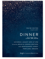 This is a blue party invitation by Hooray Creative called Star Dust with standard printing on signature in standard.