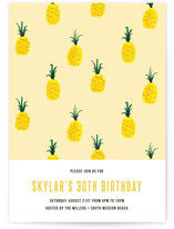 This is a yellow party invitation by chocomocacino called Jamba printing on signature.
