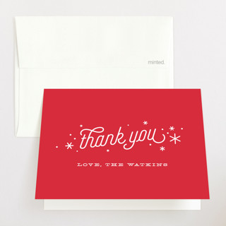 Happier Holidays Pregnancy Announcements Thank You Cards
