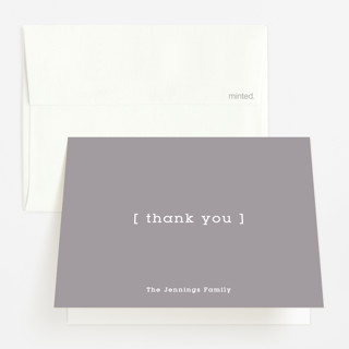 Baby Bracket Pregnancy Announcements Thank You Cards