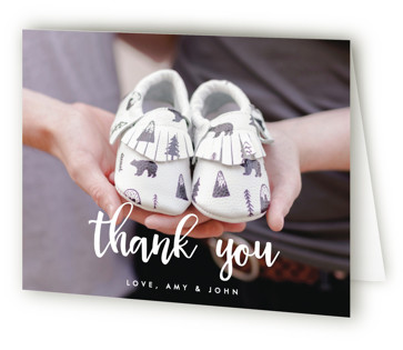 Soon to be Three Pregnancy Announcements Thank You Cards