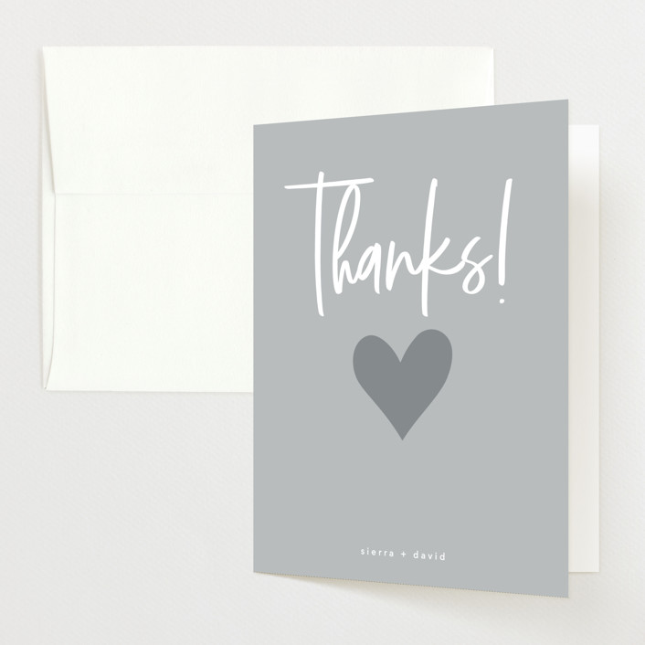 """""""stoked"""" - Pregnancy Announcements Thank You Cards in Linen by Guess What Design Studio."""