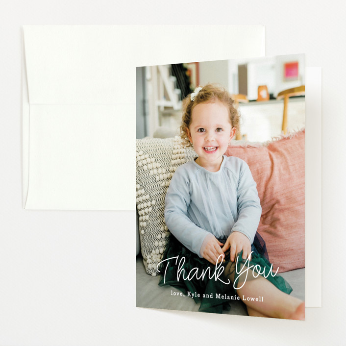 """""""Only to Oldest"""" - Funny Pregnancy Announcements Thank You Cards in Cotton by Sarah Brown."""