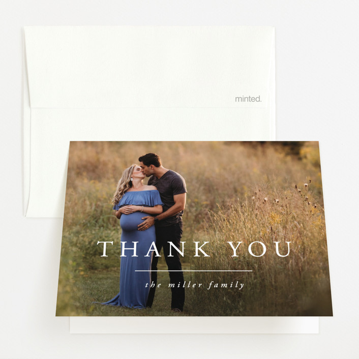 """""""It's Two"""" - Pregnancy Announcements Thank You Cards in Clouds by Susan Brown."""
