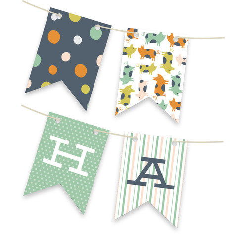 Farm Friends Personalizable Bunting Banner