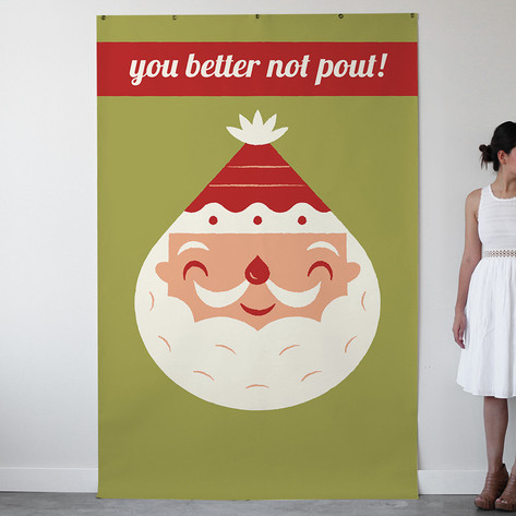 Happy Santa Personalizable Photo Backdrops