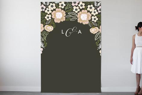 Botanical Wreath Personalizable Photo Backdrops