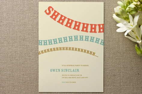 Minted Wedding Invitations Party Invitations Baby Shower – Shhh Surprise Party Invitations