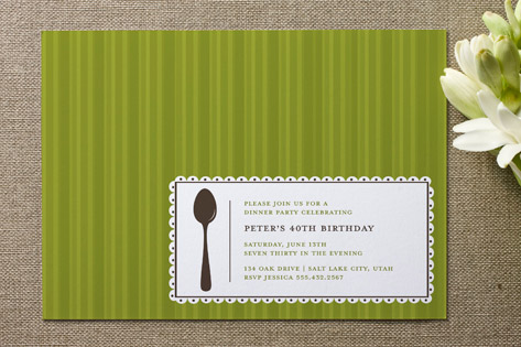 Party Label Adult Birthday Party Invitations