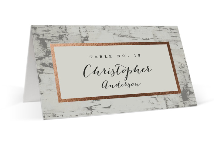 Gilded birch bark Foil-Pressed Place Cards
