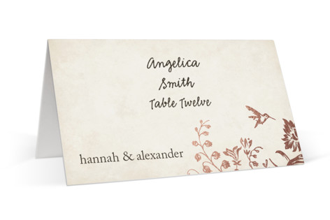 Story Book Foil-Pressed Place Cards