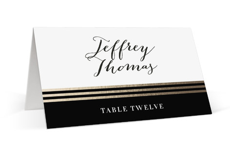 Gold Notes Foil-Pressed Place Cards