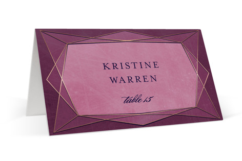 Abstract Jewel Foil-Pressed Place Cards