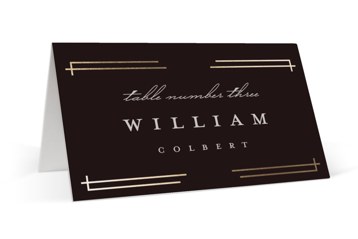 Social Distancing Foil-Pressed Place Cards
