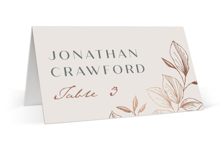 Lovely Foil-Pressed Place Cards