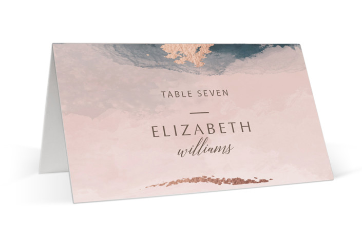 Watercolor Sunset Foil-Pressed Place Cards