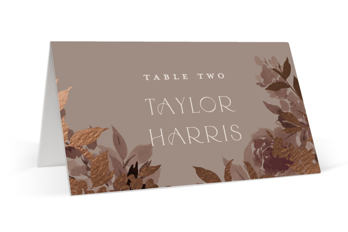 Blooms Foil-Pressed Place Cards