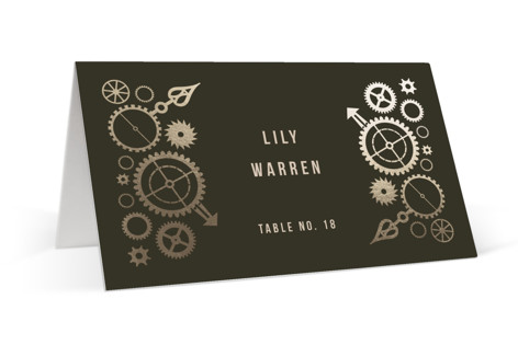 Steampunk Foil-Pressed Place Cards