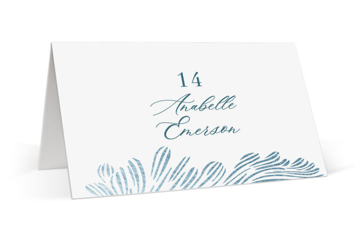 Shining Sea Foil-Pressed Place Cards