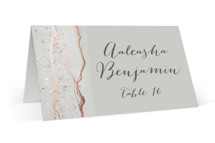This is a pink wedding place card by iamtanya called Natural Elegance with foil-pressed printing on signature in placecard.