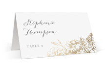 Gilded Wildflowers Foil-Pressed Place Cards