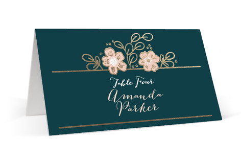 Country Florals Foil-Pressed Place Cards