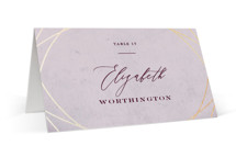 This is a red wedding place card by fatfatin called Mirror, Mirror with foil-pressed printing on signature in placecard.