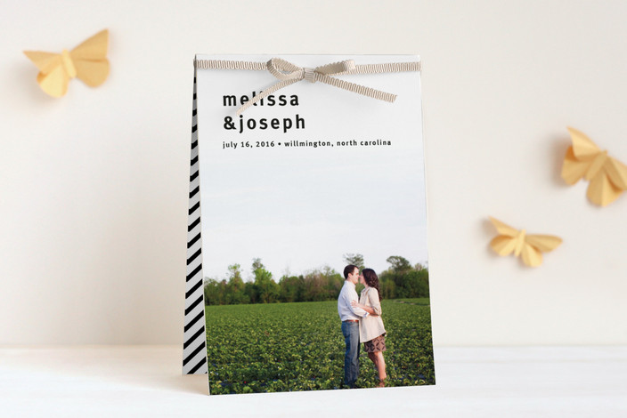 """A Sweet Afternoon"" - Modern, Simple Unique Wedding Programs in Slate by Jack Knoebber."