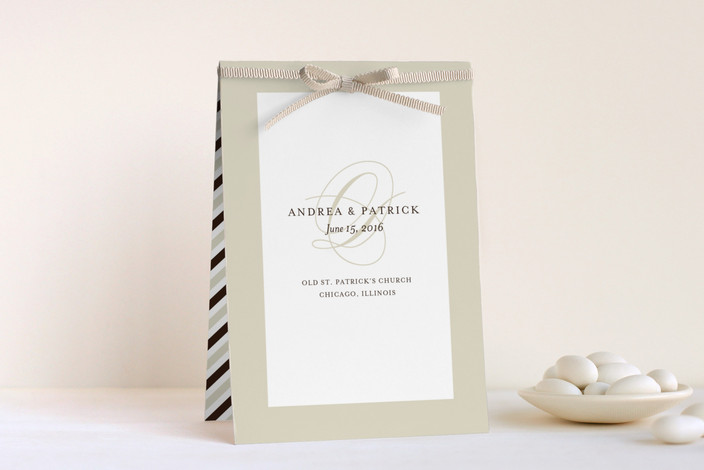 """Initial Script"" - Classical, Vintage Unique Wedding Programs in Creme by annie clark."