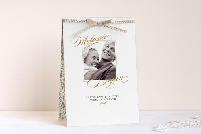 """Elegant Script"" - Classical, Elegant Unique Wedding Programs in Gold by Jody Wody."