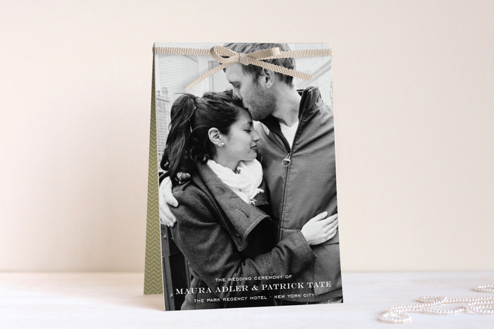 """""""Modern Elegance"""" - Classical, Elegant Unique Wedding Programs in Crème by annie clark."""