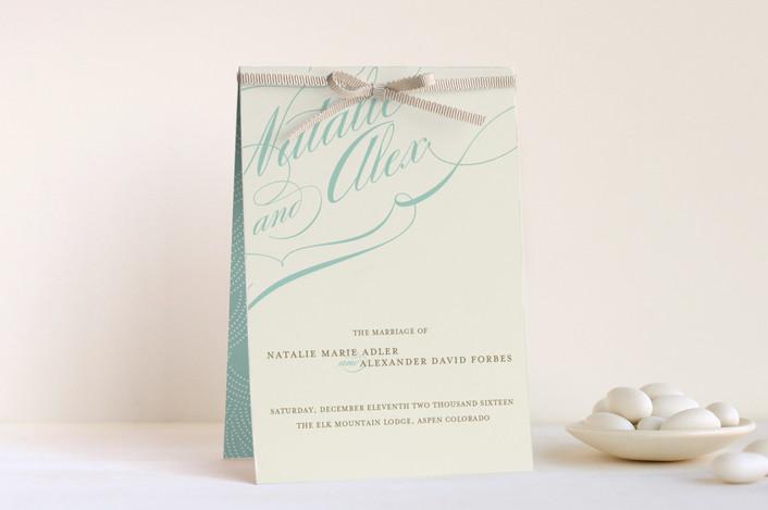 """""""Winter Flourish"""" - Unique Wedding Programs in Cornflower by annie clark."""