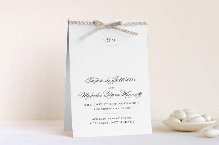 """""""Charming Go Lightly"""" - Elegant, Classical Unique Wedding Programs in Sky Blue by danielleb."""