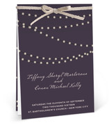 This is a purple unique wedding program by Design Lotus called Midnight Vineyard with standard printing on signature in diy.