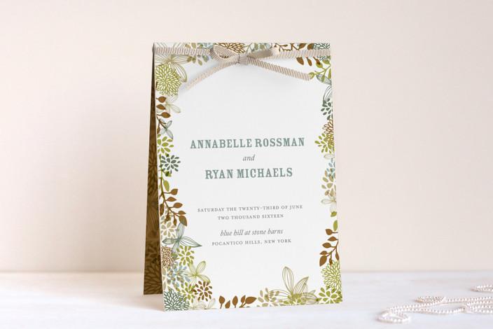 """Fling"" - Unique Wedding Programs in Leaf by Andrea Mentzer."