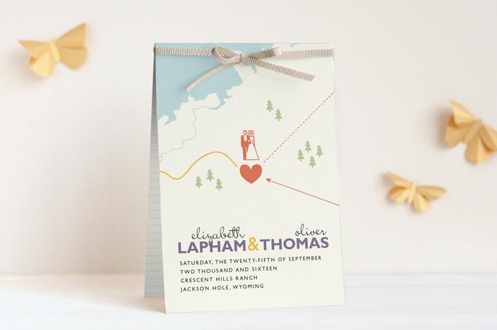 """Destination"" - Unique Wedding Programs in Lilac Haze by leslie hamer."