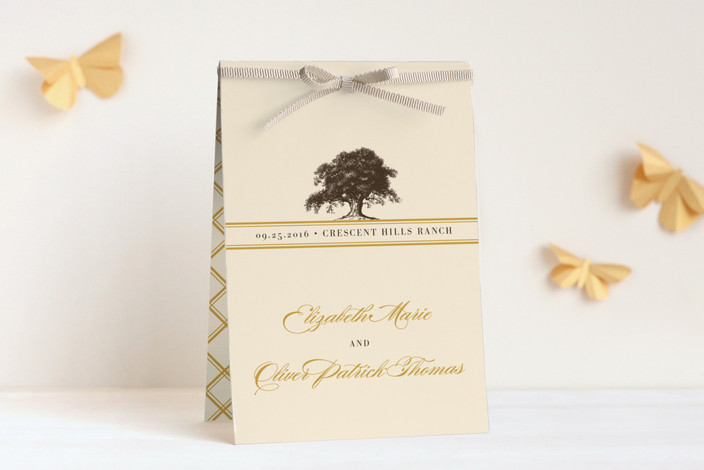 """Oak Tree"" - Rustic, Classical Unique Wedding Programs in Butterscotch by annie clark."