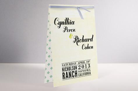 Vintage Ranch Unique Wedding Programs