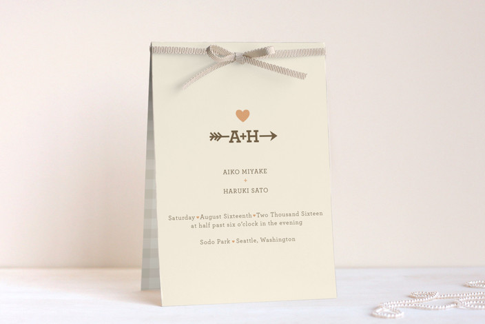 """""""Love Struck"""" - Unique Wedding Programs in Summer Peach by The Social Type."""