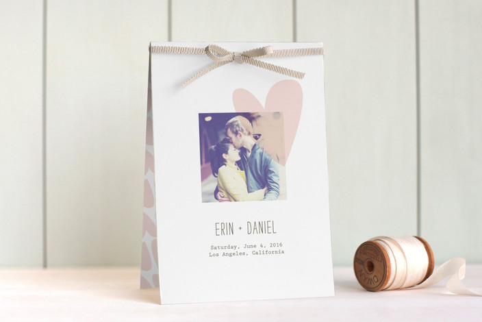 """""""Simply Love"""" - Modern, Whimsical & Funny Unique Wedding Programs in Soft Pink by Aspacia Kusulas."""