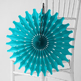 "Teal 18"" Honeycomb Tissue"